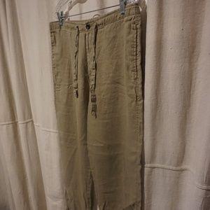 Men's Tan linen pants Size M
